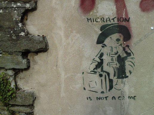 Migration-is-not-a-crime-banksy-streetart-stencil-