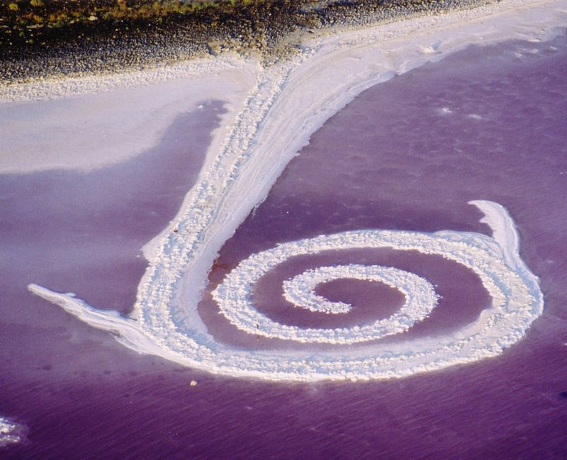 Spiral jetty today